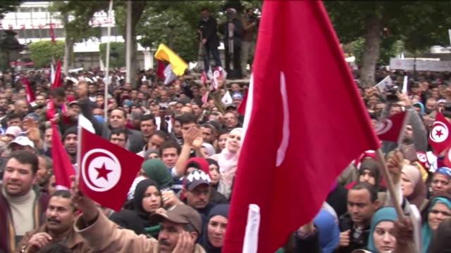 tunez celebra este martes el tercer aniversario de su revolucio la primera de la primavera arabe con la prometida nueva constitucion paralizada por... - revolution stock videos & royalty-free footage