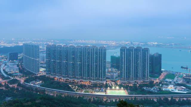 tung chung apartments - hong kong international airport stock videos and b-roll footage