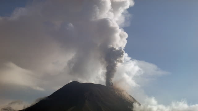 tungurahua volcano, ecuador in eruption february 2014 - 2014 stock videos and b-roll footage