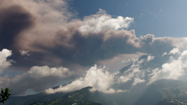 tungurahua volcano erupting, ecuador (time-lapse) - 2014 stock videos and b-roll footage