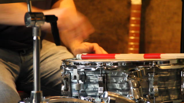 tuning snare drum - drum kit stock videos & royalty-free footage