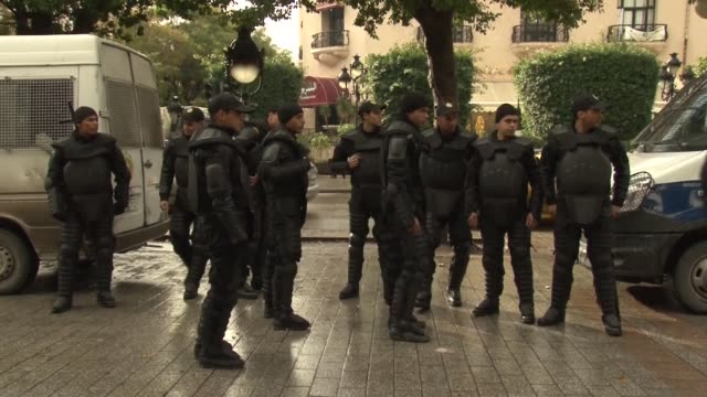 stockvideo's en b-roll-footage met tunis was at a near standstill friday with streets deserted shops shut and public transport at a minimum as a general strike called by a powerful... - vakbond