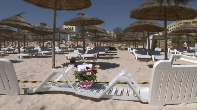 cheryl stollery gives evidence tunisia beach attack inquest cheryl stollery gives evidence r27061506 / tunisia sousse general view of beach where... - 2017 stock-videos und b-roll-filmmaterial