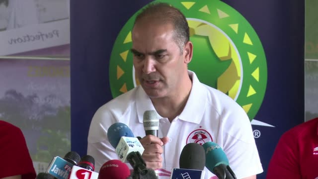 tunisia coach sami trabelsi says his team is remaining concentrated ahead of their clash with togo in their final group match of the african cup of... - mpumalanga province stock videos and b-roll footage