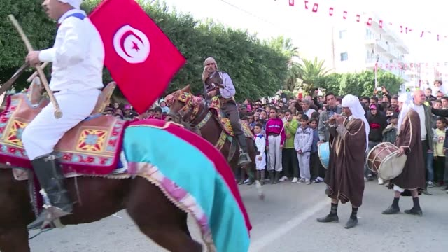 tunisia marked five years thursday since the start of its revolution with the prime minister vowing no return to tyranny and a small protest held in... - tunisia stock videos & royalty-free footage