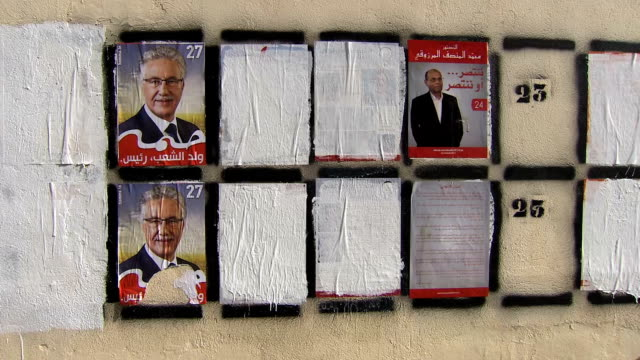 tunisia presidential election campaign - 2014 stock videos and b-roll footage