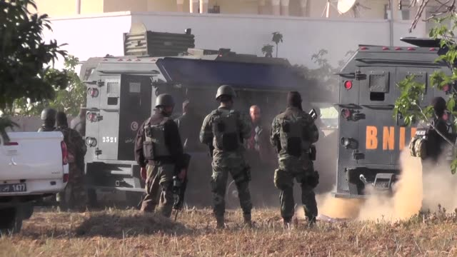 tunisian authorities said two terrorists were killed saturday close to the southern town of ben guerdane near the border with libya where jihadists... - terrorism stock videos & royalty-free footage