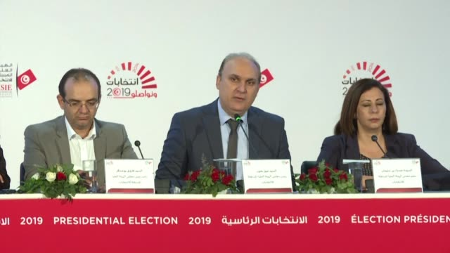 tunisian election officials cite 45 percent turnout in elections in which two anti establishment candidates are claiming to have won through to a... - runoff election stock videos & royalty-free footage
