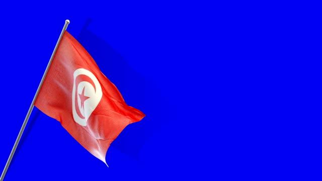 tunisian flag Rising