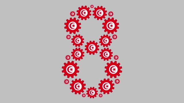 tunesische nummer acht - zahl 8 stock-videos und b-roll-filmmaterial