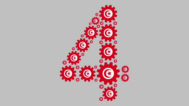 vídeos de stock, filmes e b-roll de número quatro tunisino - número 4