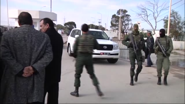 tunisian parliament speaker mohammed nasser meets with the tunisian soldiers at the tunisianlibyan border gate to celebrate the 1444th anniversary... - muhammad prophet stock videos & royalty-free footage