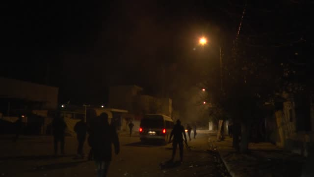 Tunisian police clash with demonstrators protesting unemployment high prices and new taxes at alTadamun neighborhood in western Tunis on January 10...