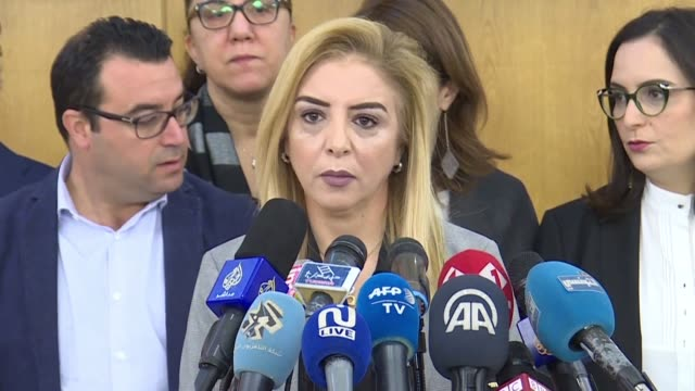 tunisian temporarily appointed health minister sonia ben cheikh speaks during a press conference in the capital tunis following the sudden deaths of... - tunis stock videos & royalty-free footage