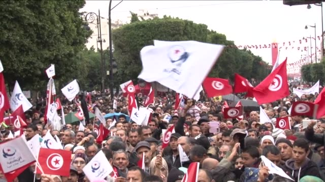 tunisians celebrated the third anniversary tuesday of the overthrow of a decadesold dictatorship in the first arab spring uprising but political... - 2014 stock videos and b-roll footage