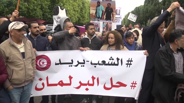 tunisians on march 20 called on the president to dissolve the parliament due to economic and political crises in the country. people gathered streets... - economy stock videos & royalty-free footage
