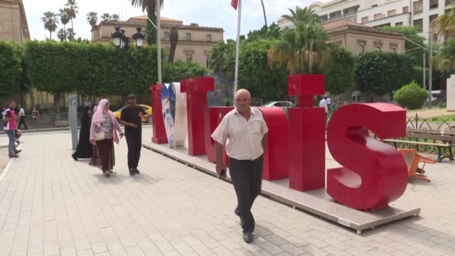 tunisians react to the results of the first round of the presidential election held on sunday - tunisia stock videos & royalty-free footage