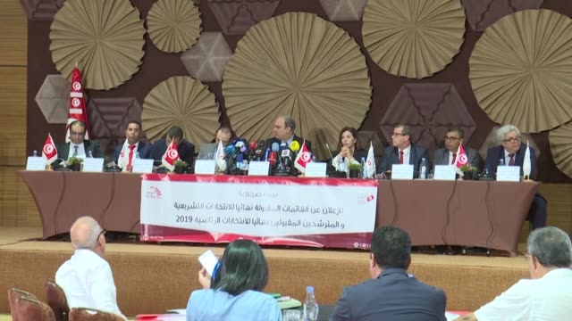 tunisia's electoral commission announces a final list of 26 presidential candidates to stand in a september 15 poll to elect a successor to late... - nachfolger stock-videos und b-roll-filmmaterial