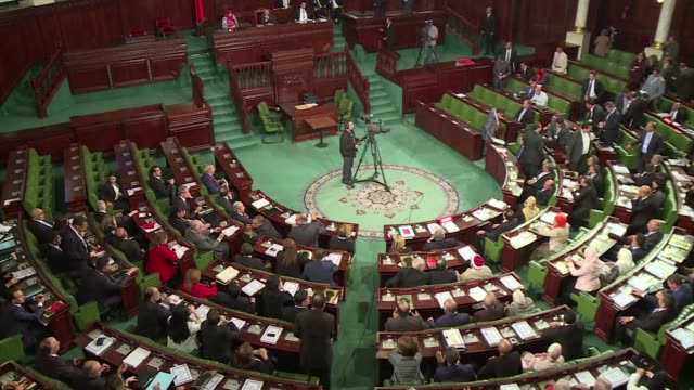 stockvideo's en b-roll-footage met tunisias new parliament held its inaugural session on tuesday a landmark in the countrys often fraught transition to democracy since the 2011... - tunesië