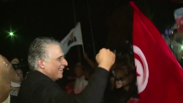 tunisia's presidential candidate nabil karoui walks free after he was released from prison and given a hero's reception by supporters four days ahead... - runoff election stock videos & royalty-free footage