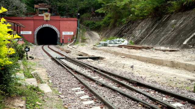Tunnel and train