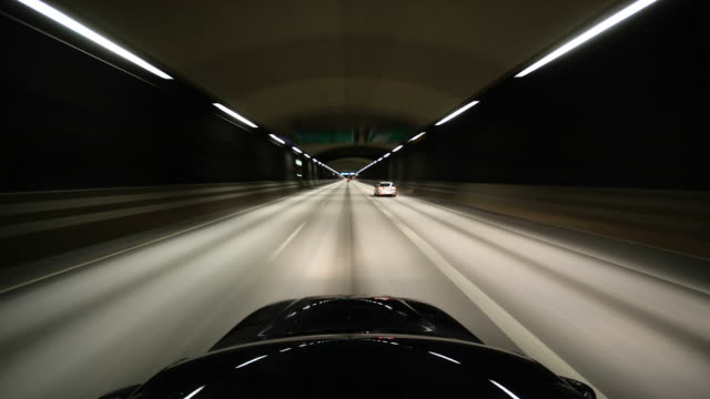 tunnel drive (time-lapse) - tunnel stock videos & royalty-free footage
