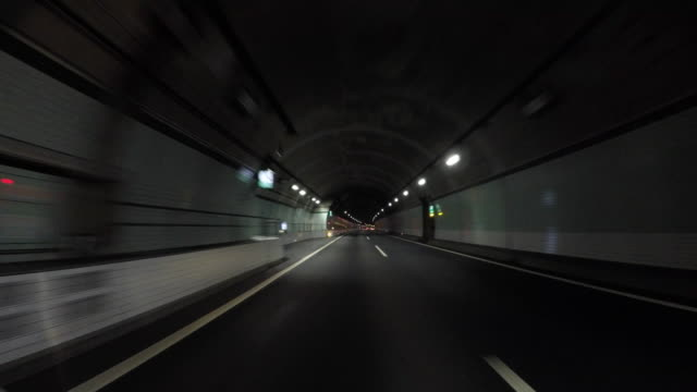 tunnel drive - tunnel stock videos & royalty-free footage