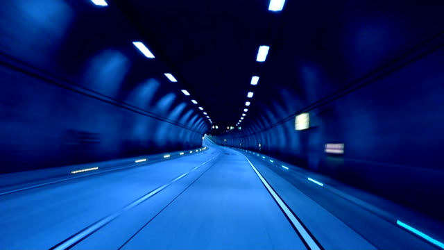 tunnel exit (blue) - tunnel stock videos & royalty-free footage
