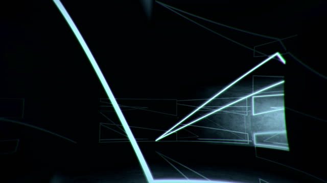 tunnel, neon lights - cube shape stock videos & royalty-free footage