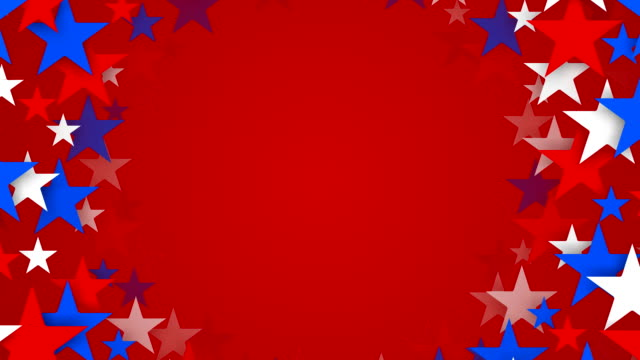 Tunnel of Red, White and Blue Stars Zooming by (Loopable)