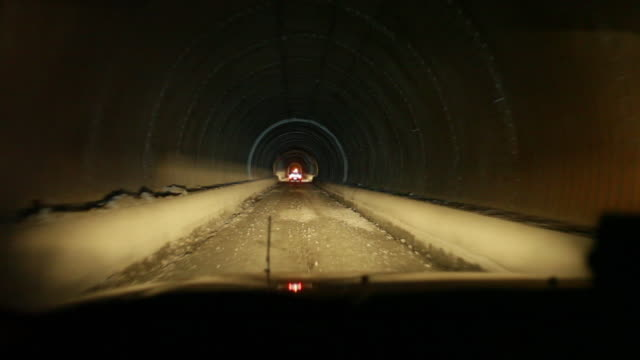A tunnel shot while moving