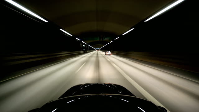 tunnel time lapse - automobile video stock e b–roll