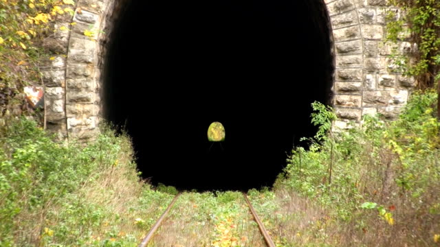 tunnel (hd) - train point of view stock videos and b-roll footage