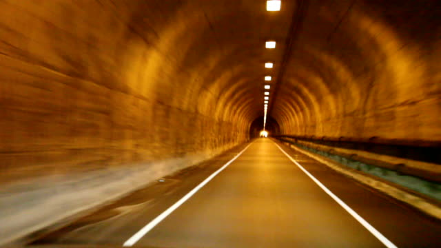 tunnel with lights - narrow stock videos and b-roll footage