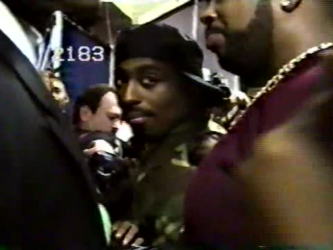 tupac shakur and suge knight backstage at the 10th annual soul train awards - shrine auditorium stock videos & royalty-free footage