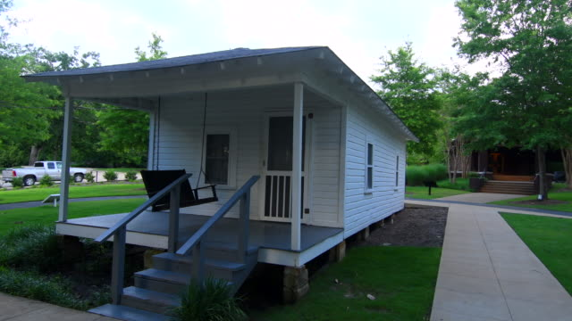 tupelo mississippi elvis presley birth home and porch in small town of the king of pop elvis - michael jackson stock videos and b-roll footage
