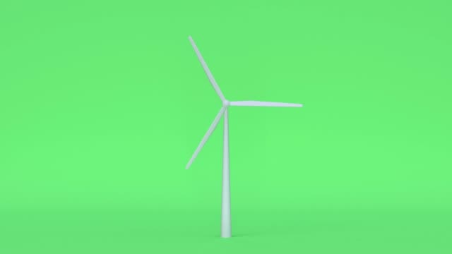 turbine nature green scene cartoon style 3d rendering power electricity innovation concept - still life stock videos and b-roll footage