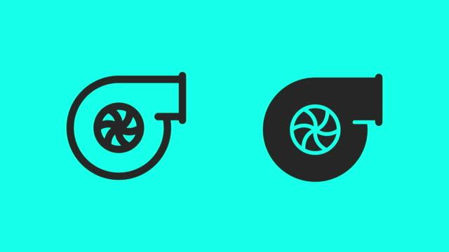 vídeos y material grabado en eventos de stock de turbo iconos - vector animado - lanzacohetes