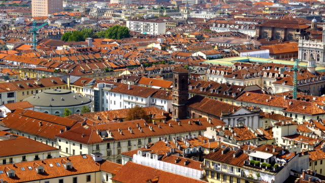 turin city view - italian culture stock videos & royalty-free footage