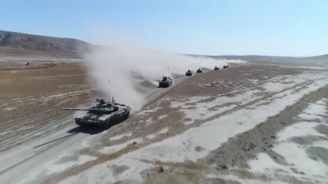 turkey and azerbaijan continue joint military exercises with the participation of air and ground forces, drills organized in the wake of attacks by... - army stock-videos und b-roll-filmmaterial
