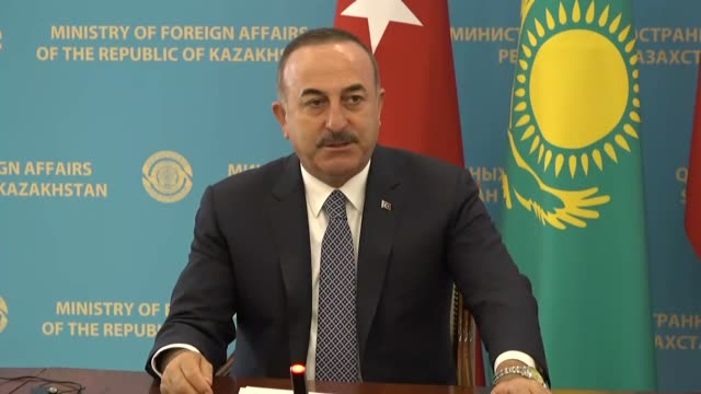 turkey and kazakhstan will work together to improve relations in all fields turkey's foreign minister said friday the two countries should increase... - nur sultan stock videos and b-roll footage