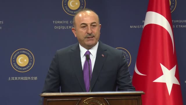 turkey and the netherlands will focus on positive measures to improve bilateral relations foreign minister mevlut cavusoglu said on ocotber 03 2018 - government minister stock videos & royalty-free footage