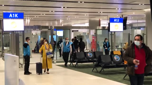 turkey began testing passengers arriving from the uk early monday, dec. 21, for a new variant of the coronavirus after health officials in britain... - turkey middle east stock videos & royalty-free footage