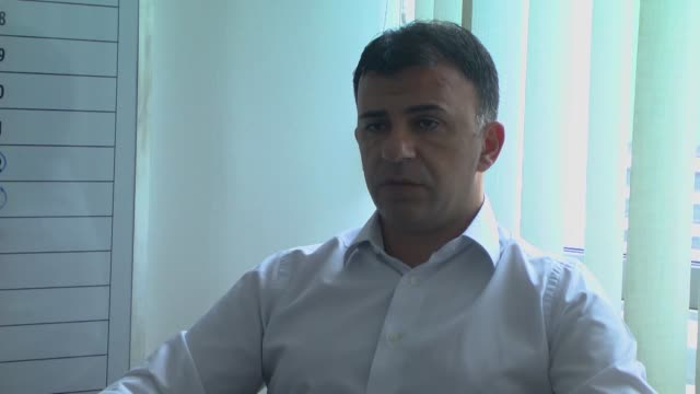 turkey deserves to organize euro 2024 football championship macedonian national football team's head coach igor angelovski says during an exclusive... - campionato sportivo video stock e b–roll