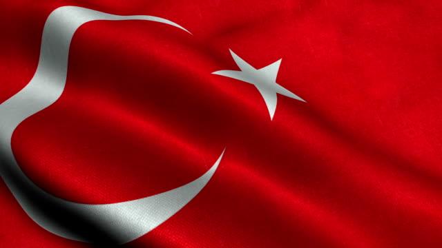 vidéos et rushes de turquie fkag - drapeau turc