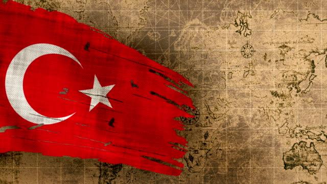vidéos et rushes de drapeau de la turquie 4k bouclables - drapeau turc