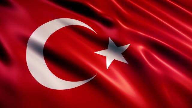 vidéos et rushes de drapeau de la turquie - drapeau turc