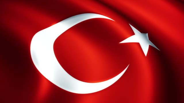 vidéos et rushes de drapeau turc - drapeau turc