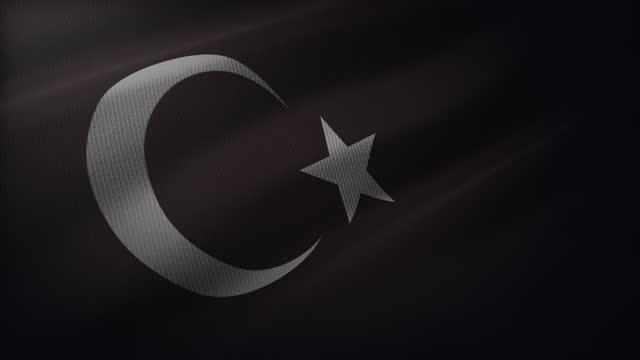 4k türkei flagge winken im wind mit sehr detaillierten stoff textur - argentinische flagge stock-videos und b-roll-filmmaterial