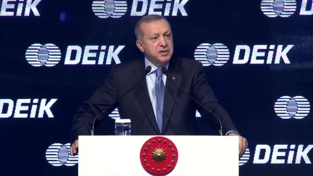 """vídeos de stock, filmes e b-roll de turkey is aiming for a $1 trillion foreign trade volume and a $2 trillion gross domestic product the nation's president said on april 21 2018""""we need... - produto interno bruto"""
